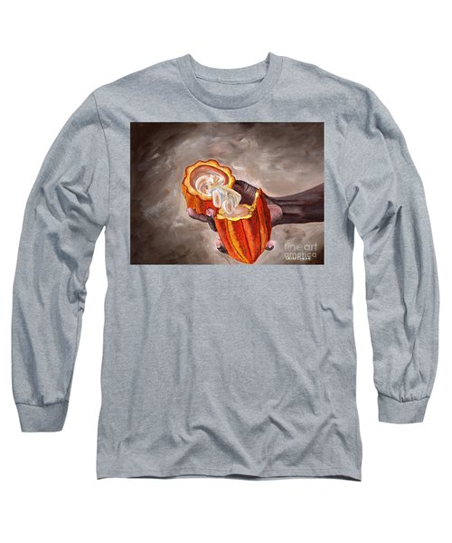 Cocoa Pod In Hand Long Sleeve T-Shirt
