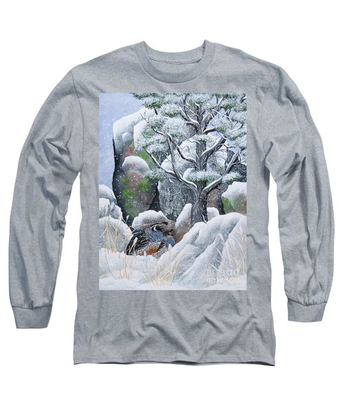 Long Sleeve T-Shirt featuring the painting Cozy Couple by Jennifer Lake