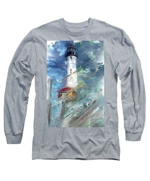 Crisp Point Lighthouse Michigan Long Sleeve T-Shirt