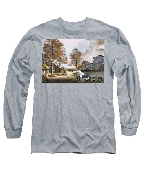 Crofters Cottages Long Sleeve T-Shirt