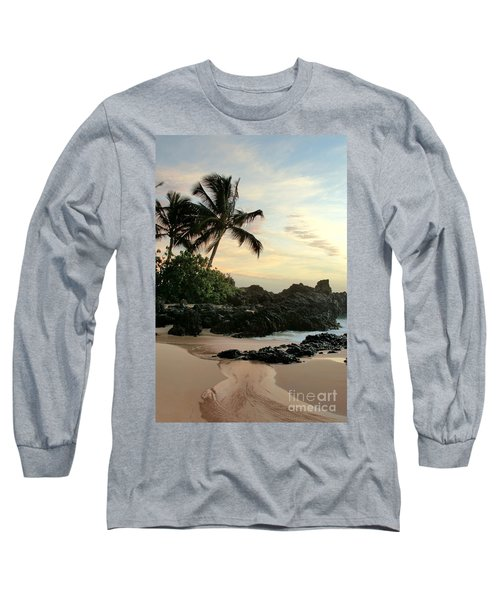 Edge Of The Sea Long Sleeve T-Shirt by Sharon Mau