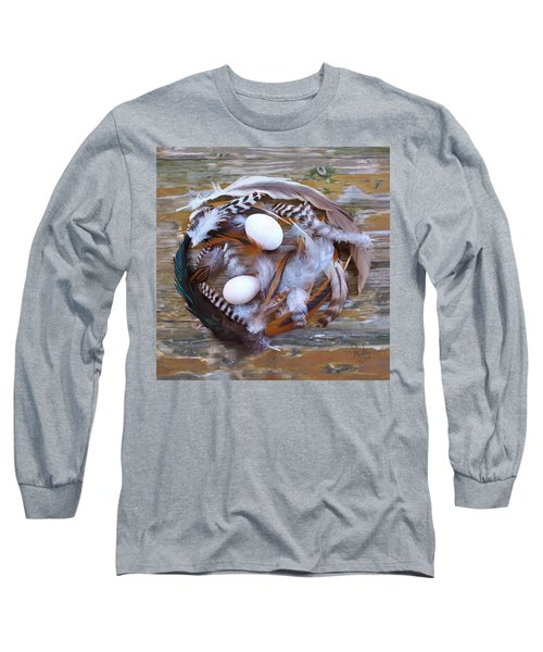 1. Feather Wreath Example Long Sleeve T-Shirt