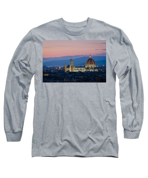 Florence At Sunset Long Sleeve T-Shirt