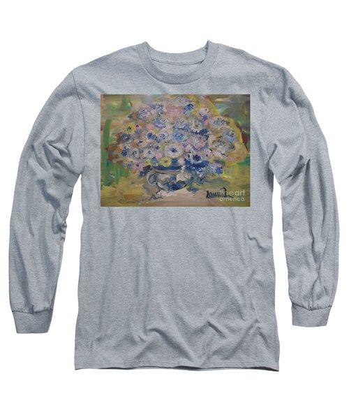 Flow Bleu Long Sleeve T-Shirt by Laurie L