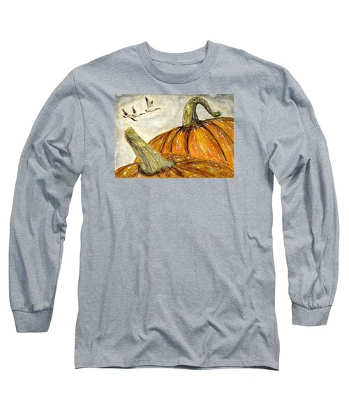 Flying South Long Sleeve T-Shirt by Angela Davies