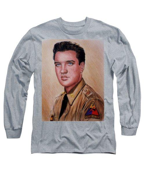 G I Elvis  Long Sleeve T-Shirt