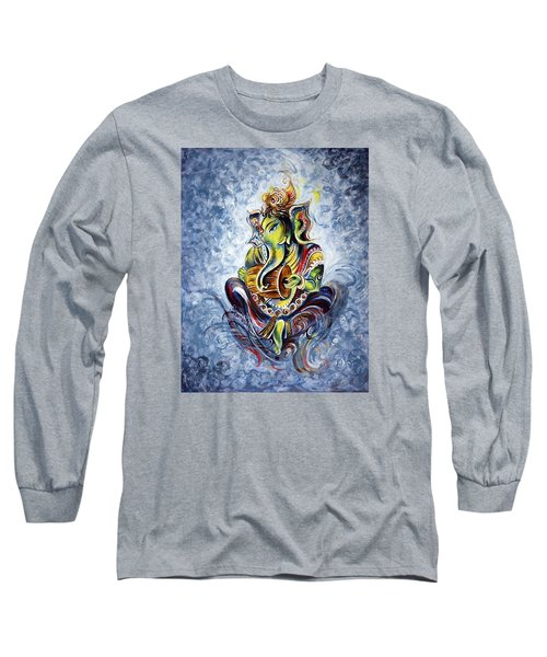 Musical Ganesha Long Sleeve T-Shirt