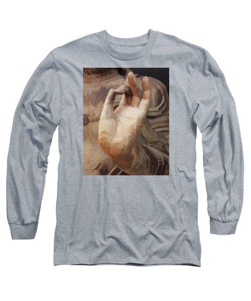 Hand Of Buddha C2014 Long Sleeve T-Shirt by Paul Ashby