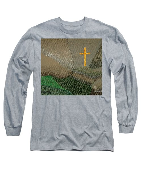 Depression And The Saviour Long Sleeve T-Shirt by Rod Ismay