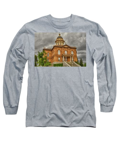 Historic Placer County Courthouse Long Sleeve T-Shirt by Jim Thompson