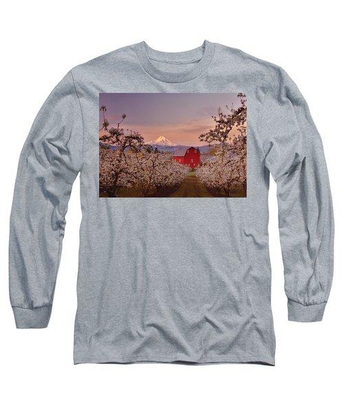 Hood River Sunrise Long Sleeve T-Shirt