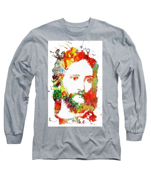 Jesus Christ - Watercolor Long Sleeve T-Shirt by Doc Braham