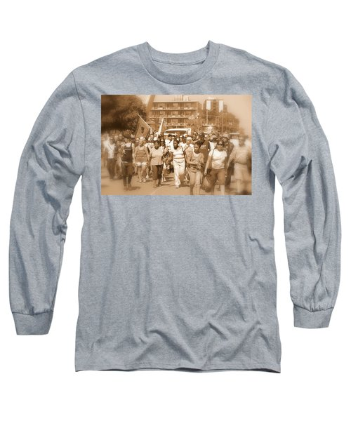 Labor Day Parade Long Sleeve T-Shirt by Valentino Visentini