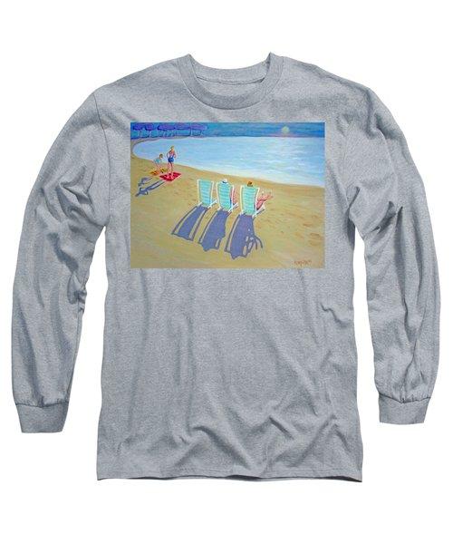 Sunset On Beach - Last Rays Long Sleeve T-Shirt