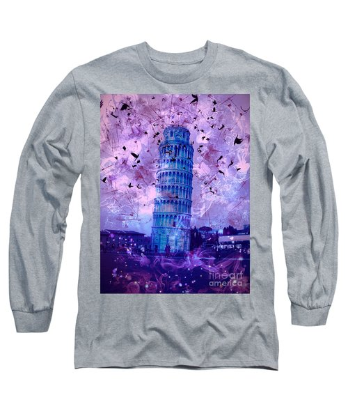 Leaning Tower Of Pisa 2 Long Sleeve T-Shirt