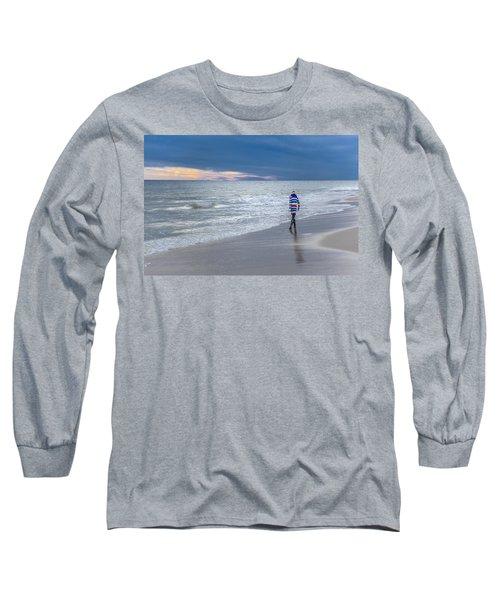 Little Girl At The Beache Long Sleeve T-Shirt