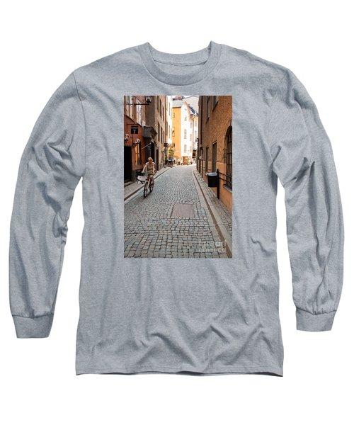 Narrow Stockholm Street Sweden Long Sleeve T-Shirt