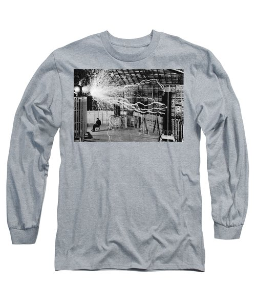 Nikola Tesla Serbian-american Inventor Long Sleeve T-Shirt