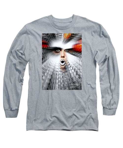 Long Sleeve T-Shirt featuring the painting OMG by Rafael Salazar