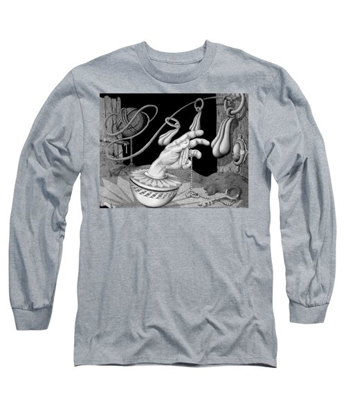 Long Sleeve T-Shirt featuring the drawing Opportunity by Geni Gorani