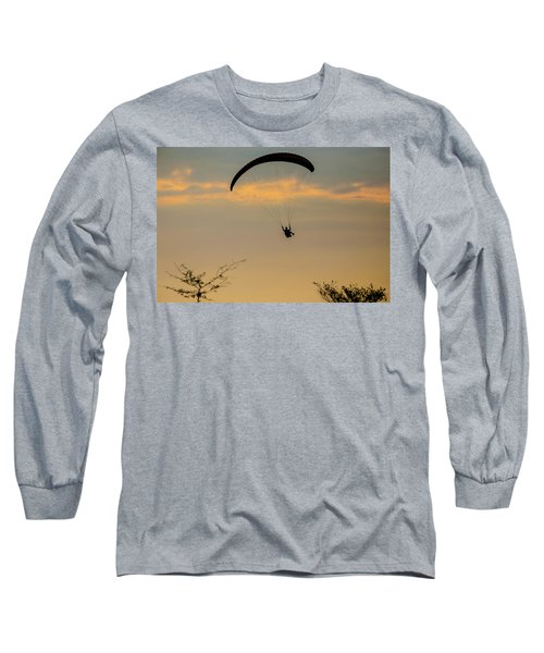 Paragliding, West Sumbawa, Indonesia Long Sleeve T-Shirt