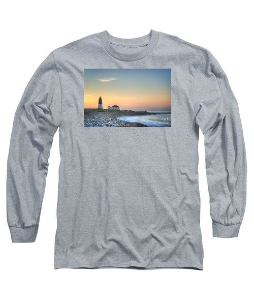 Point Judith Lighthouse Long Sleeve T-Shirt by Juli Scalzi