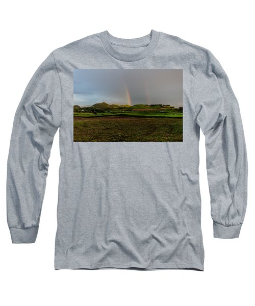 Rainbows Over The Mountain Long Sleeve T-Shirt