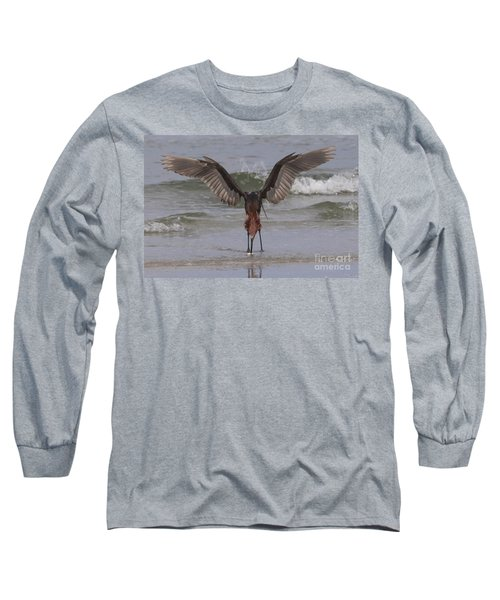 Reddish Egret Fishing Long Sleeve T-Shirt