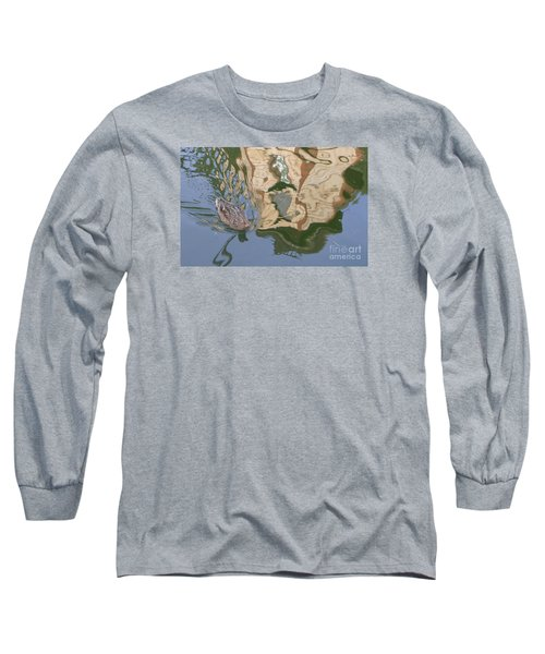 Long Sleeve T-Shirt featuring the photograph Reflection Mill by Nora Boghossian
