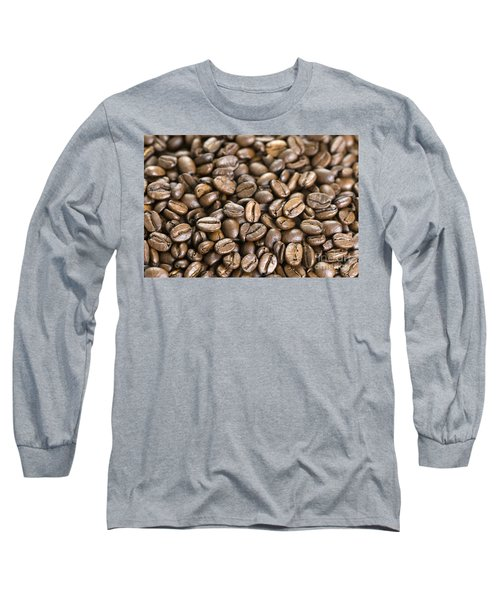 Long Sleeve T-Shirt featuring the photograph Roasted Coffee Beans by Lee Avison