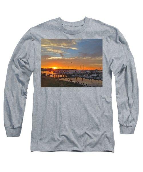 Seagull Sunset Long Sleeve T-Shirt
