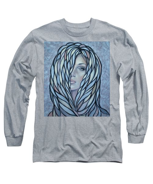 Long Sleeve T-Shirt featuring the painting Silver Nymph 021109 by Selena Boron