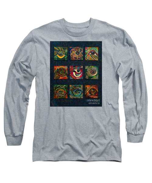 Long Sleeve T-Shirt featuring the painting Spirit Eye Collection II by Deborha Kerr