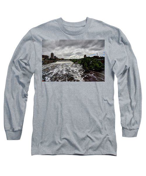 St Anthony Falls Long Sleeve T-Shirt by Amanda Stadther