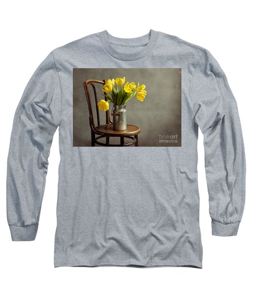 Still Life With Yellow Tulips Long Sleeve T-Shirt