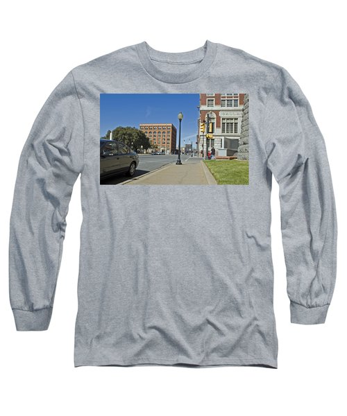 Long Sleeve T-Shirt featuring the photograph Texas School Book Depository by Charles Beeler