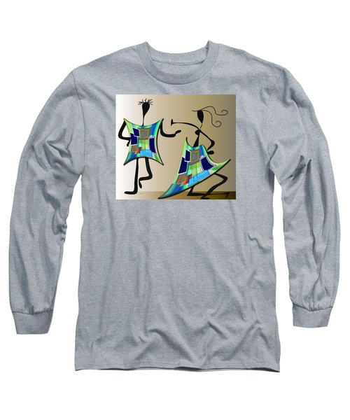 The Dancers Long Sleeve T-Shirt by Iris Gelbart