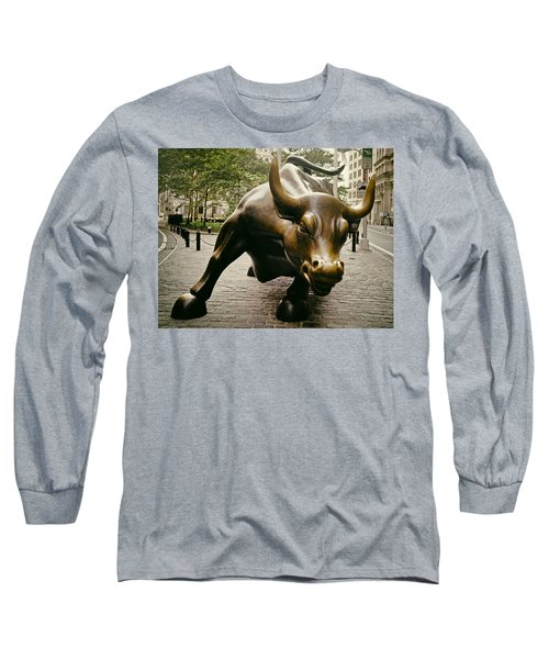 The Wall Street Bull Long Sleeve T-Shirt by Mountain Dreams