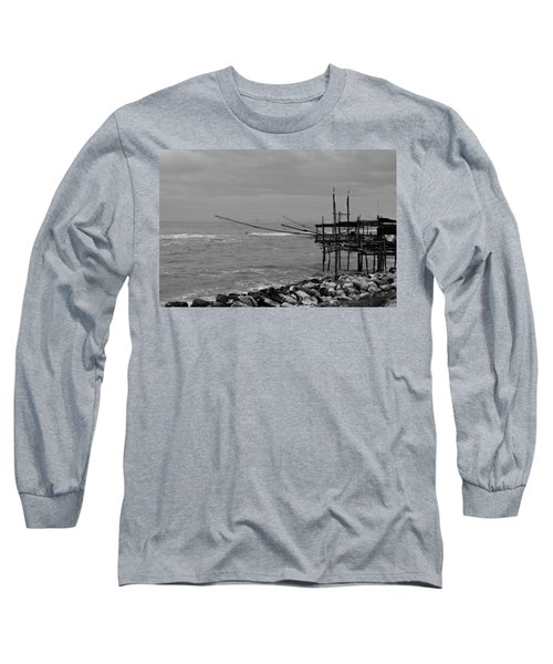Trabocco On The Coast Of Italy  Long Sleeve T-Shirt
