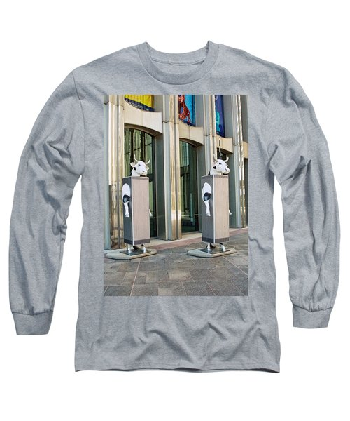 Cow Parade N Y C 2000 - Twin Cowers Long Sleeve T-Shirt by Allen Beatty