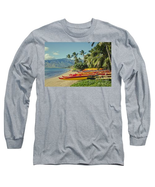 Kenolio Beach Sugar Beach Kihei Maui Hawaii  Long Sleeve T-Shirt