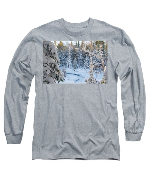 Winter At Grand Marais Creek Long Sleeve T-Shirt