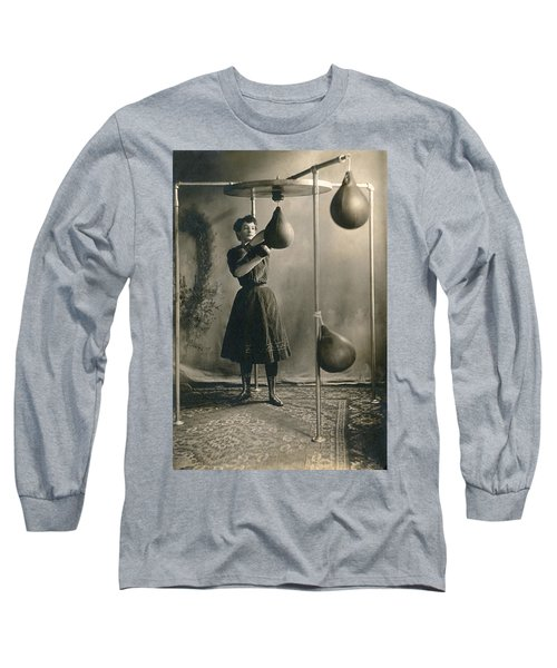 Woman Boxing Workout Long Sleeve T-Shirt