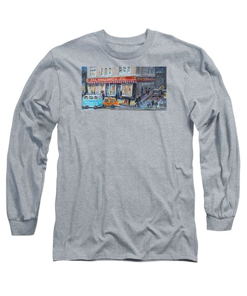 Woolworth's Holiday Shopping Long Sleeve T-Shirt by Rita Brown