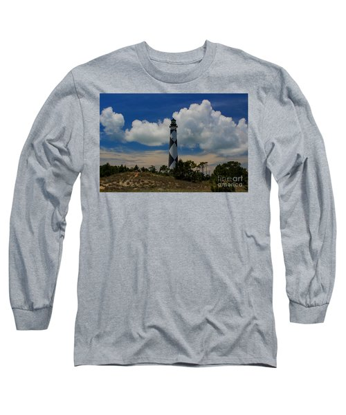 Cape Lookout Lighthouse Long Sleeve T-Shirt
