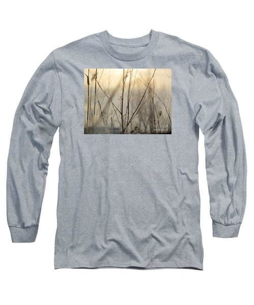 Wildflowers Winter Long Sleeve T-Shirt by France Laliberte