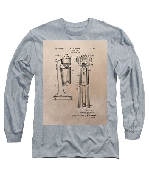 1930 Drink Mixer Patent Long Sleeve T-Shirt by Dan Sproul