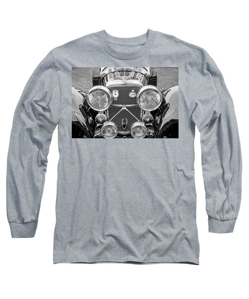 1950 Jaguar Xk120 Roadster Grille -0260bw Long Sleeve T-Shirt