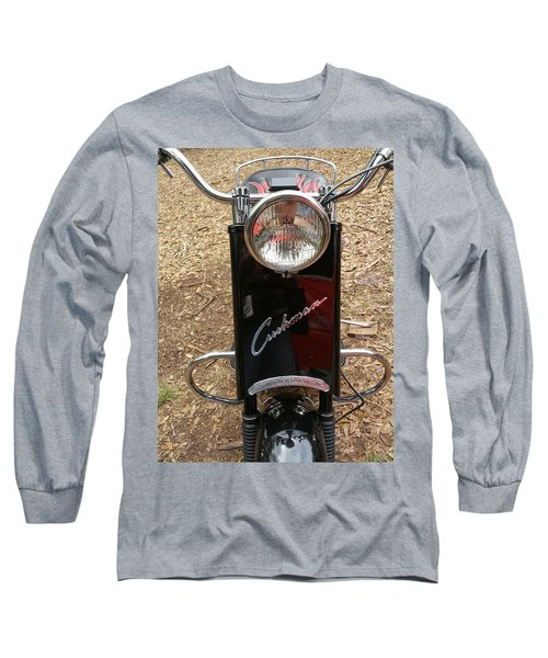 Long Sleeve T-Shirt featuring the photograph 1950's Cushman by Fortunate Findings Shirley Dickerson