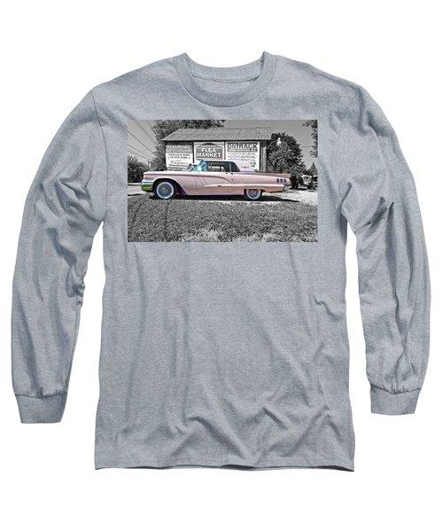 1960 Thunderbird Bw Long Sleeve T-Shirt